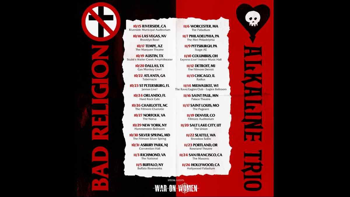 Bad Religion tour poster