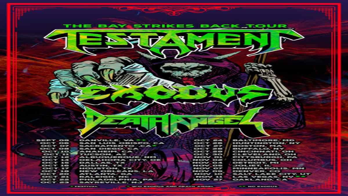 Testament tour poster