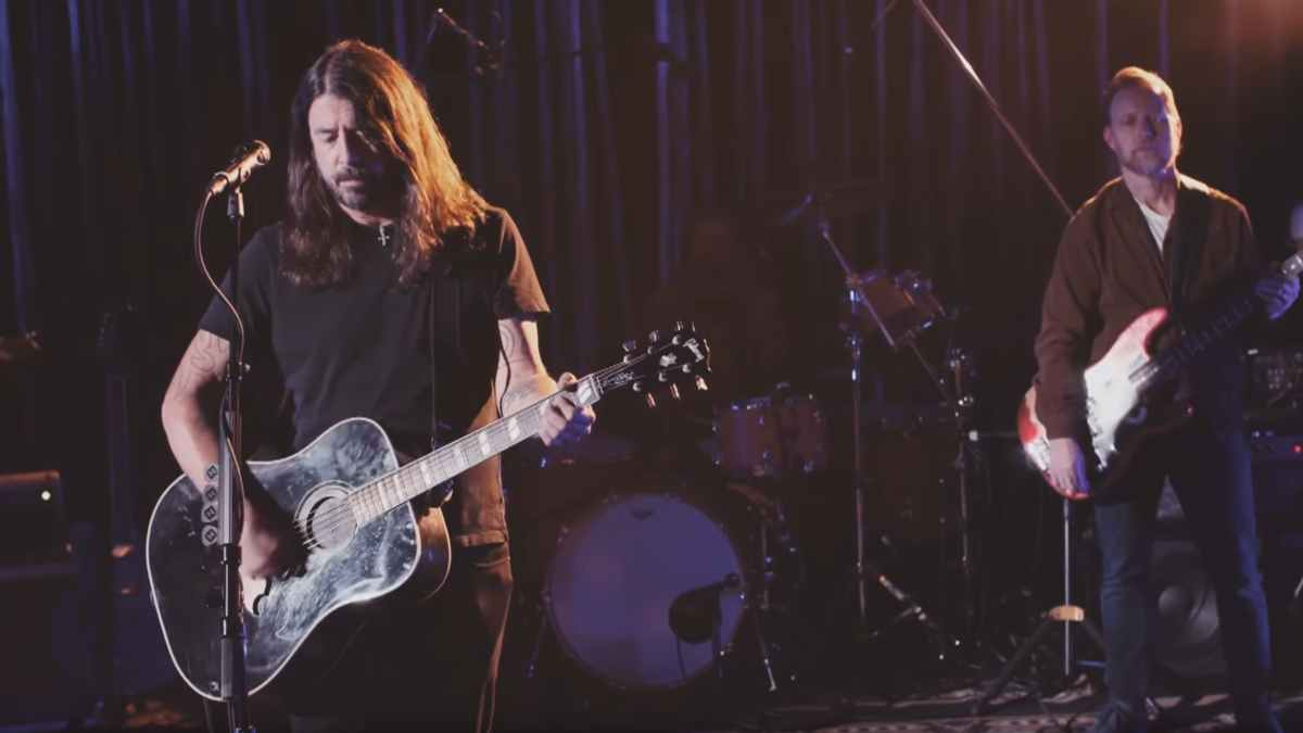 Foo Fighters video still from TV performance