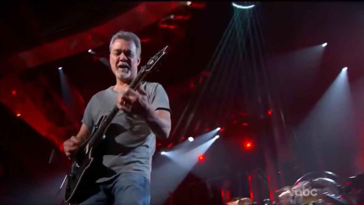 Van Halen video still of Eddie at Billboard Awards 2015