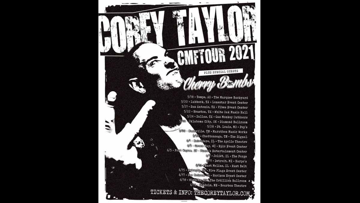 Corey Taylor tour poster