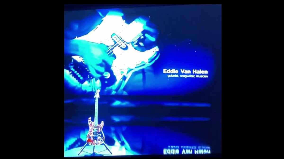 Van Halen video still of the Grammy segment