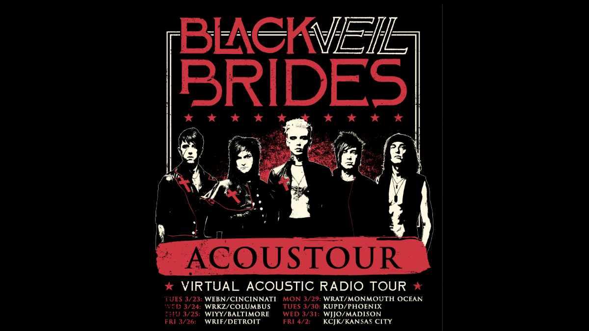 Black Veil Brides tour poster