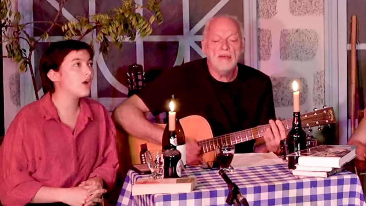 David Gilmour still from the video