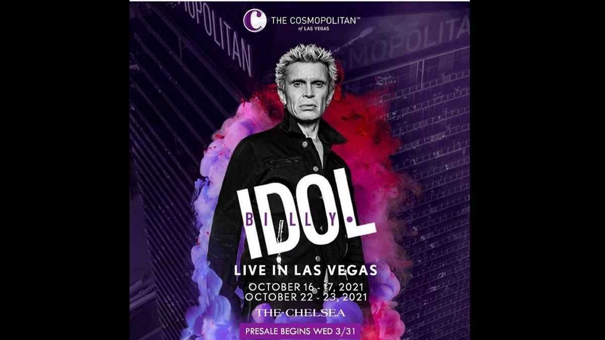 Billy Idol Residency Poster