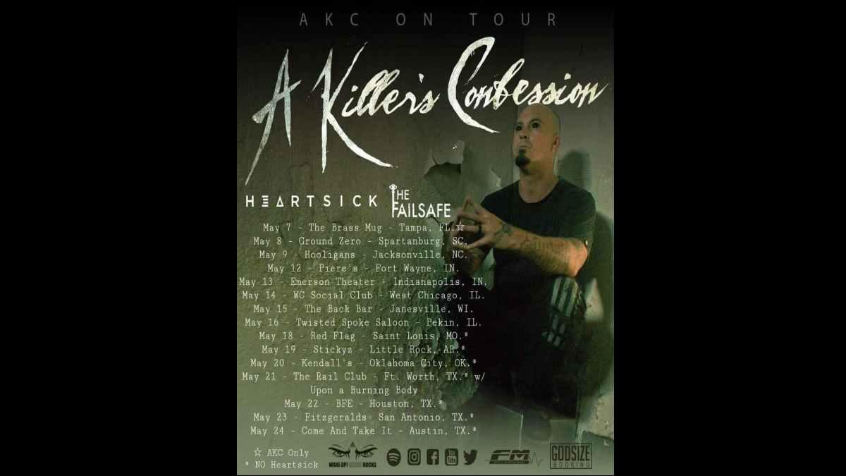 A Killer's Confession tour poster