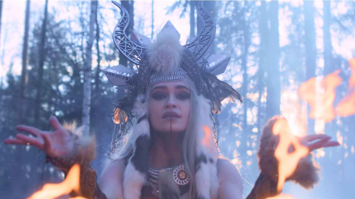 Burning Witches video still courtesy Nuclear Blast