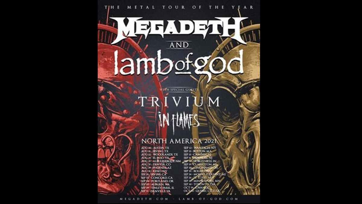 Megadeth tour poster