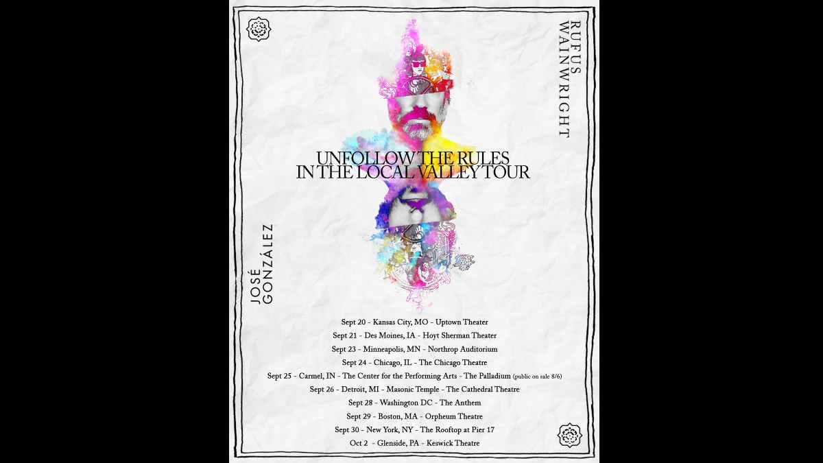 Rufus Wainwright tour poster