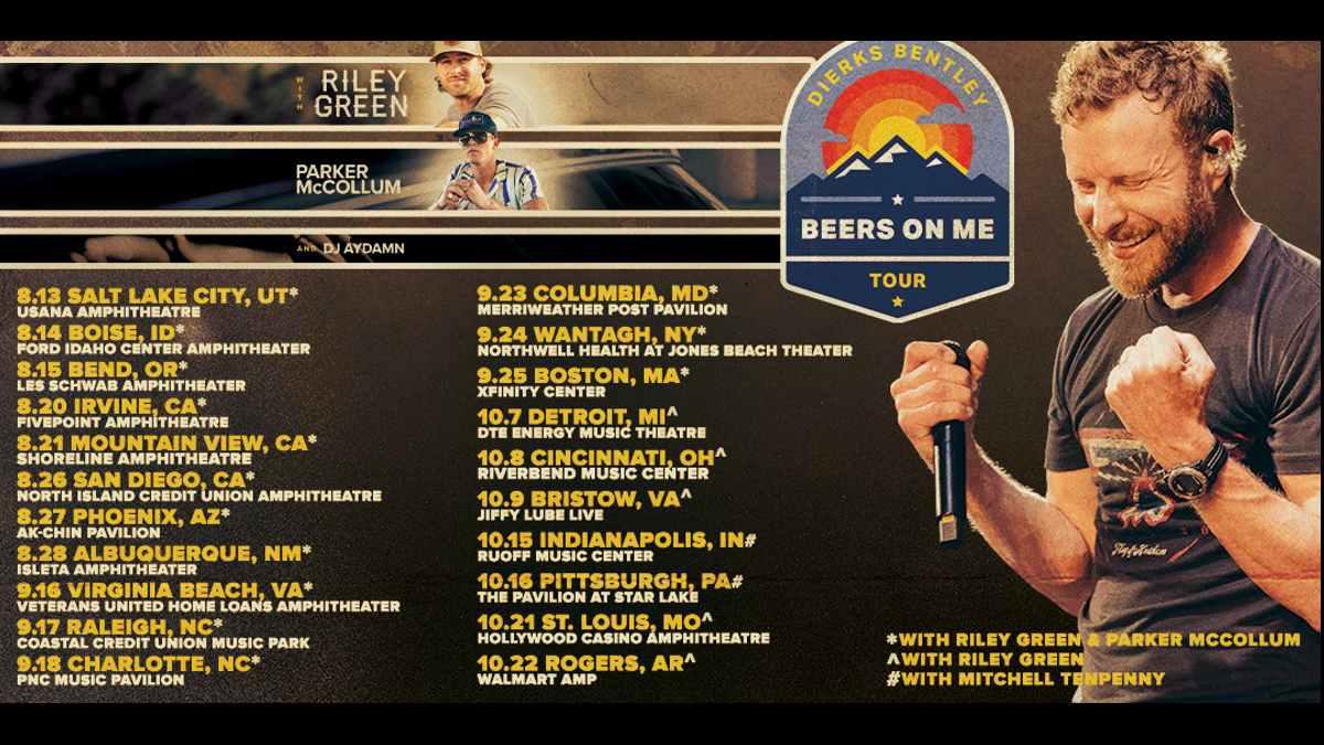 Dierks Bentley tour poster