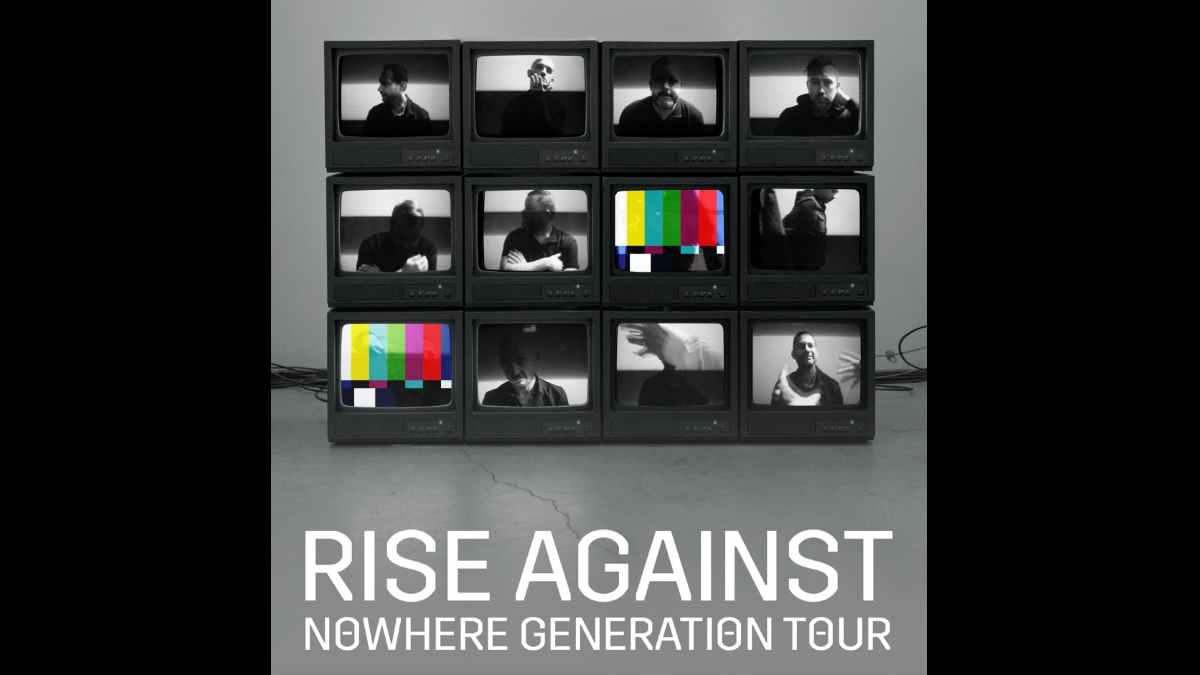 Rise Against tour poster