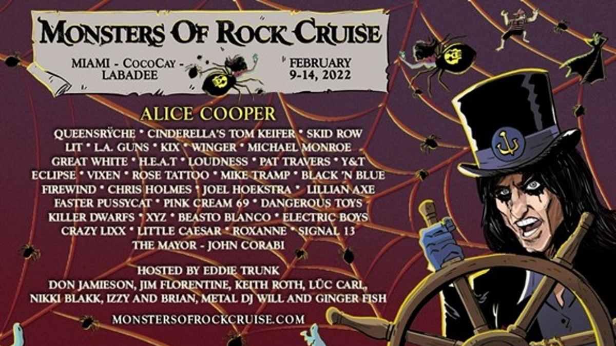 Alice Cooper cruise poster