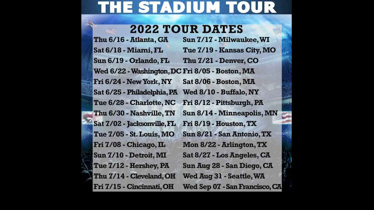 The Stadium Tour 2022 dates