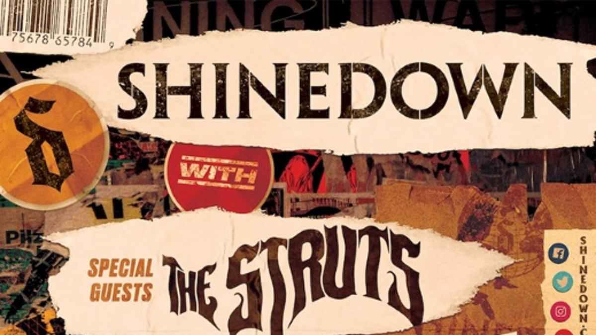 Shinedown tour poster