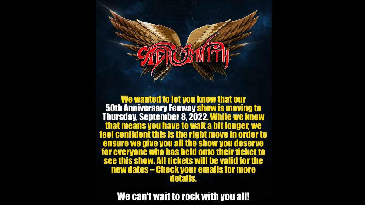 Aerosmith social media capture