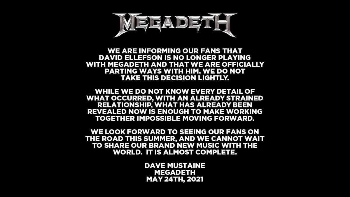 Megadeth social media capture