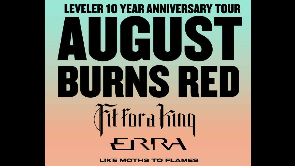 August Burns Red tour poster