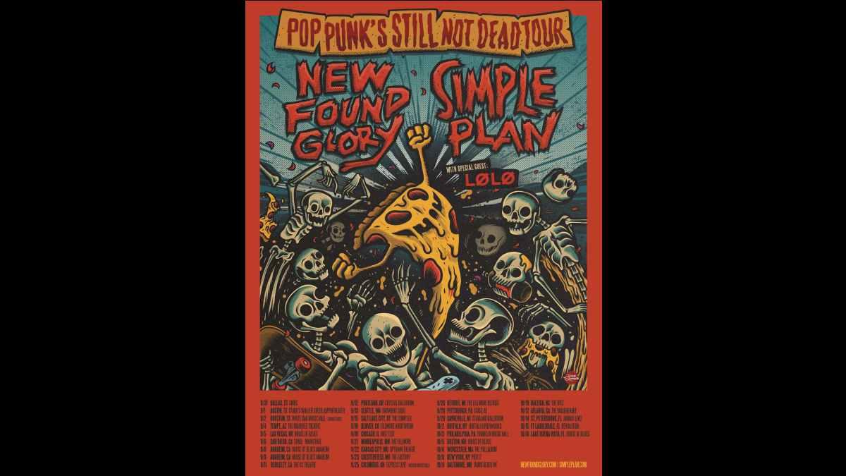 Simple Plan tour poster