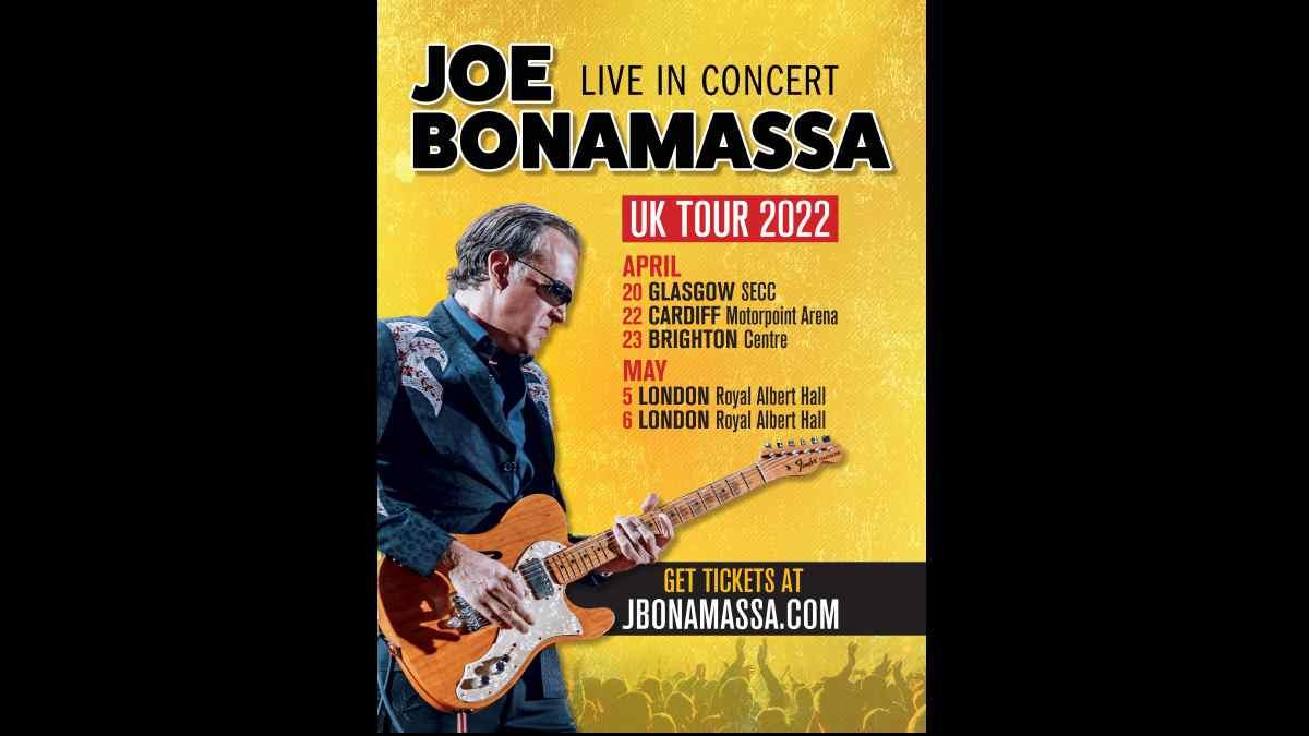 Joe Bonamassa Tour poster courtesy Noble