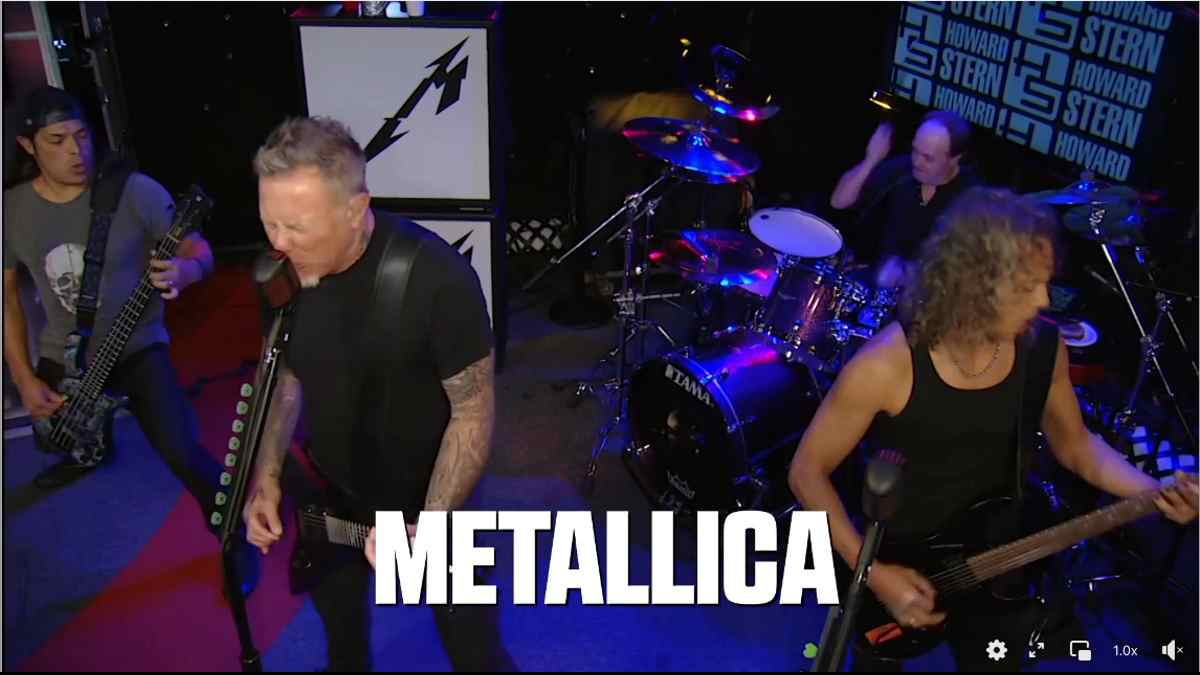 Metallica Still from the preview video